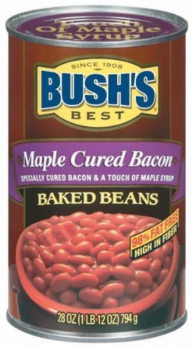 Bush's Best, Maple Cured Bacon Baked Beans, 28oz Cans (Pack of 4)