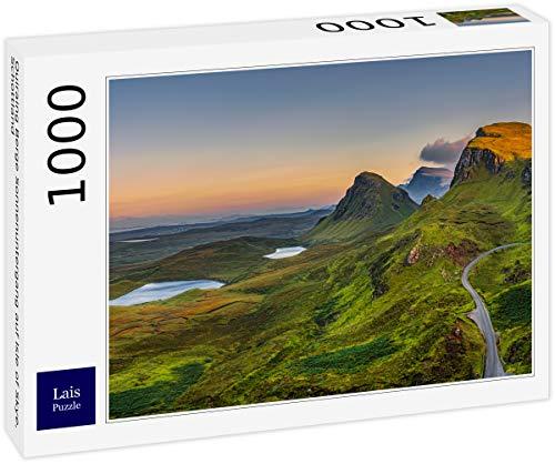 Rompecabezas Lais Quiraing Montañas Puesta de sol en la Isla de Skye, Escocia 1000 piezas