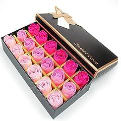 Idea Regalo - Txyk 18 Pezzi Creativo Regalo Fiore del Sapone Artificiali Rose Fiori di Sapone per la Festa di Compleanno San Valentino(Rosa)
