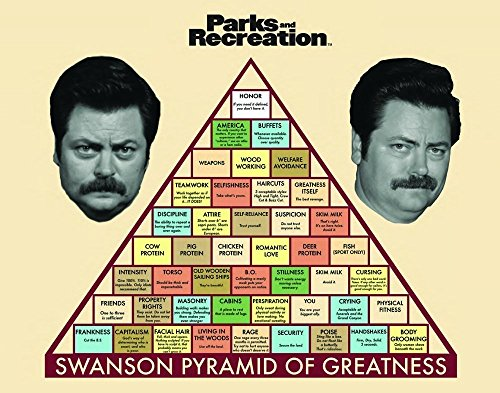 Price comparison product image Culturenik Parks and Recreation Ron Swanson Pyramid Workplace Comedy TV Television Show Poster Print (24 X 36 UNFRAMED Poster)
