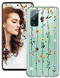 Croazhi S20 FE 5G Handyhülle Kompatibel mit Samsung Galaxy S20 FE 5G/4G Hülle Silikon Transparent Blumen Muster Galaxy S20 Fan Edition/S20 Lite Schutzhülle Dünn 360 Grad Bumper Stoßfest (m)