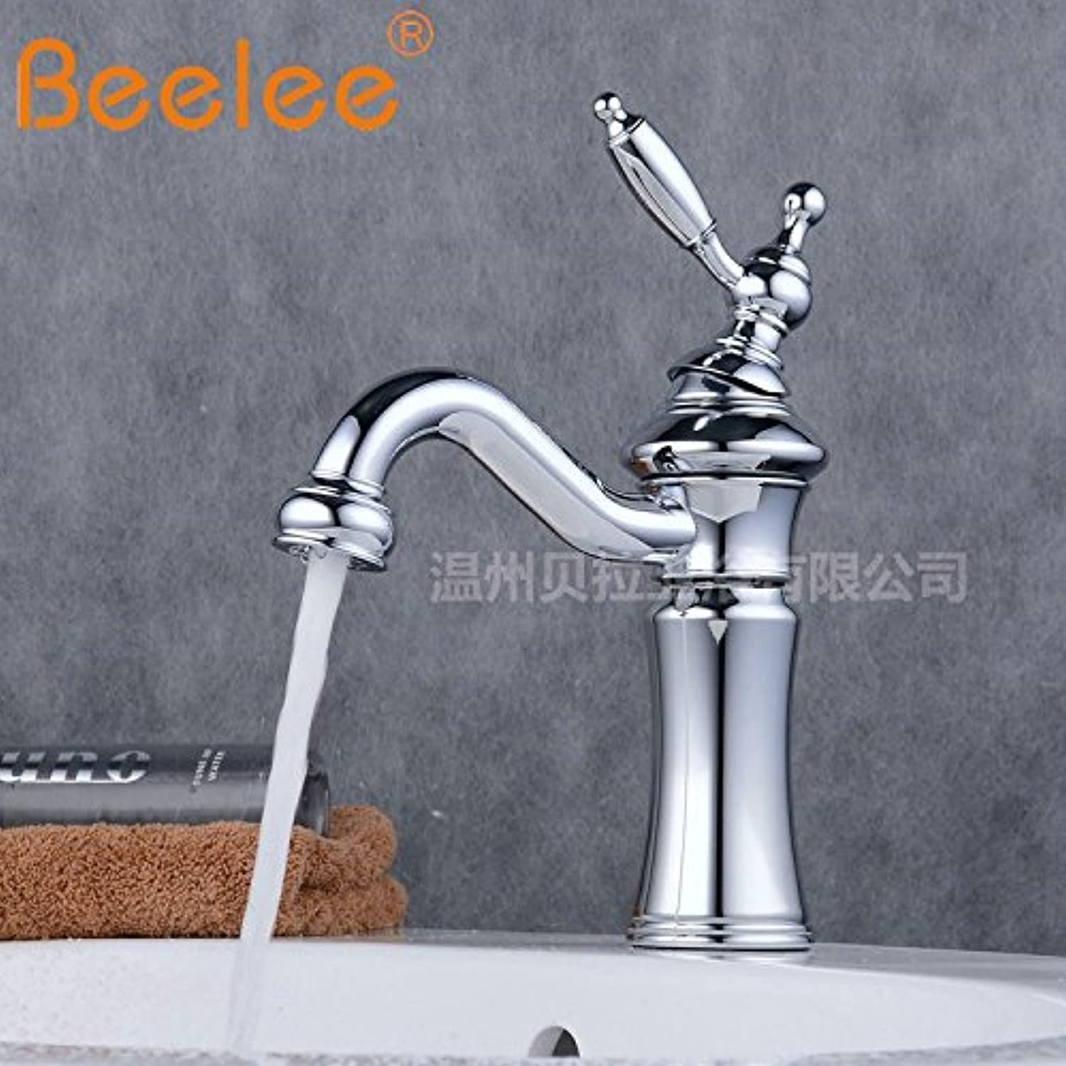 Pengei Tap Basin Mixer Kitchen Sink Mixer Faucet All Copper Single Hole Black Bronze
