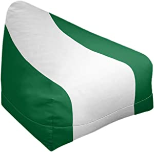 ArtVerse NFS Philadelphia Throwback Football Stripes Bean Bag Cover w/Inner Shell (No Fill), 27 x 30 x 25, Green and White