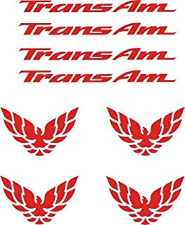 Pontiac Firebird Trans Am Wheel & Center-cap Decal Set 8 Pieces (Red)