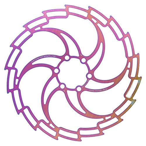 VGEBY Freno de Disco de Bicicleta Rotor de galvanoplastia de Acero Inoxidable Freno de Disco de Bicicleta Ultraligero Hueco Deslumbrante