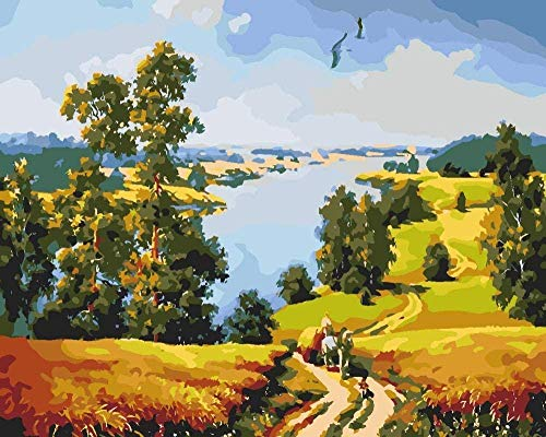 5D Diamond Painting Full Kit Landscape Crystal Rhinestone Embroidery Painting for Home Wall Decor 16 x 12 in