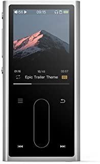FiiO M3K Mini HiFi Metal Shell MP3 Player with Digital Voice Recorder,24 Hours Playback and Expandable Up to 512GB with Independent Lock & Volume Control,Silver