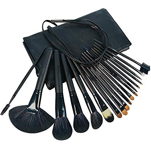Pinceaux de maquillage, ensemble de brosse à maquillage professionnel 18 pièces Maquilleur complet avec sacoche de voyage