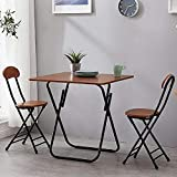Daily Accessories Metal Garden Table And 2 Chairs 3 Piece Room Dining Furniture Set Folding Metal Patio Bistro Sets