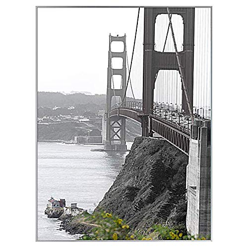 Frametory, 18x24 Metal Wall Mount Frame For Prints, Aluminum Picture Frame With Real Glass (Silver, Pack of 1)
