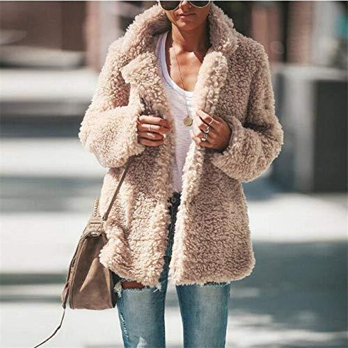 DPKDBN donsjack, vrouwen flanel lange mouwen jas dames warme bovenkleding gebreide jas mantel