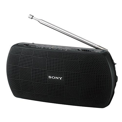 ソニー ポータブルラジオ SRF-19 : ワイドFM対応 FM/AM ブラック SRF-19 B