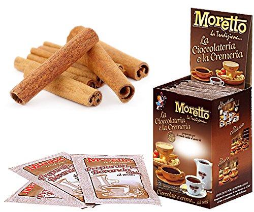 Cioccolata calda in tazza - MORETTO - gusto CIOCCOLATO e CANNELLA- 1 scatola con 12 bustine
