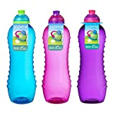 Sistema Twist 'n' Sip - Bottigliette da 620 ml, colore: Blu/Rosa/Viola