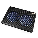 BESTEK ノートパソコン 冷却台 冷却ファン搭載 ノートPC用クーラー 11.6~17インチ対応 BTCPN2BK