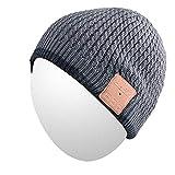 Qshell Trendy Warm Soft Knit Slouchy Music Beanie Skully Hat avec Casque stéréo...
