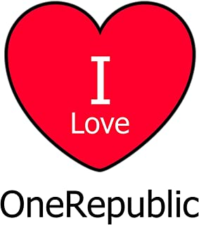 I Love OneRepublic: Large White Notebook/Journal for Writing 100 Pages, OneRepublic Gift for Men, Women, Boys and Girls