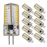 Dimmable LED G4 Bi-Pin Base Bulbs, AC 110V,3W(Equivalent to 20W 30W T3 Halogen Track Bulb),Warm White 3000K, Home Lighting,Landscape Light,Ceiling Lights,10-Pack