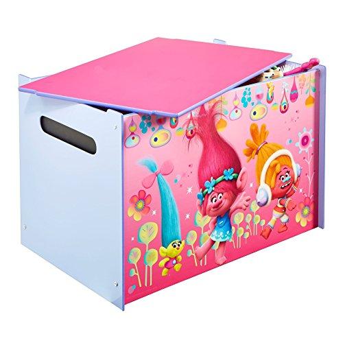 Trolls - 474TRO - Coffre à jouets - Coffre de rangement pour chambre d'enfant
