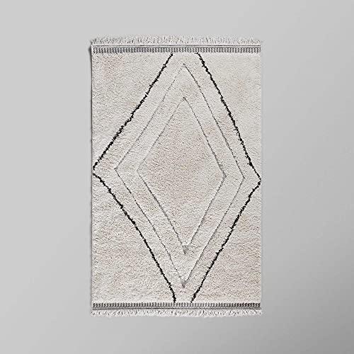 MADURA - Tapis de Sol AMAR - Naturel et Noir - 60x110 cm