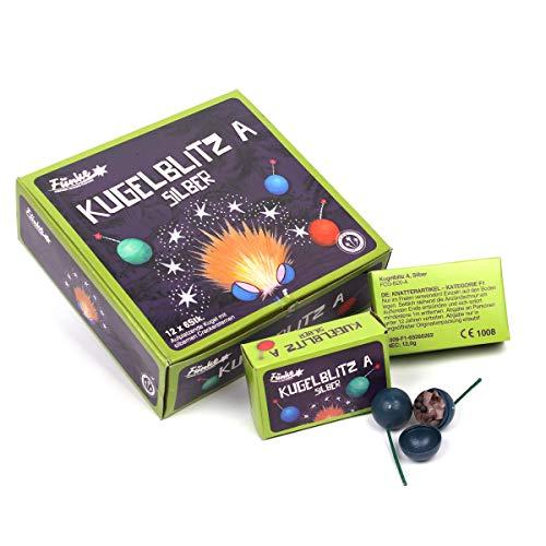 vama Funke Kugelblitz A FireBowls Blitzknatterbälle Knatterbälle mit laut knisternden Silberfunken - Silvester Feuerwerk Jugendfrei (6 Packungen)