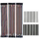 KeeYees 120pcs 3x30CM Jumper Wire Kabel Drahtbrücken Set 40pin Male zu Female, Male zu Male, Female...