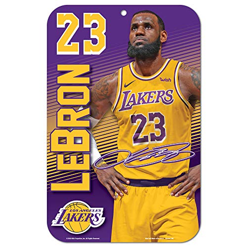 WinCraft NBA LeBron James Los Angeles Lakers Schild, Tafel