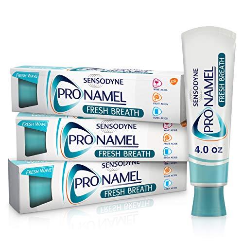 Pronamel Sensodyne xFresh Breath Enamel Toothpaste for Sensitive Teeth, to Reharden and Strengthen Enamel, Fresh Wave, Mint, Pack of 3, 12 Ounce