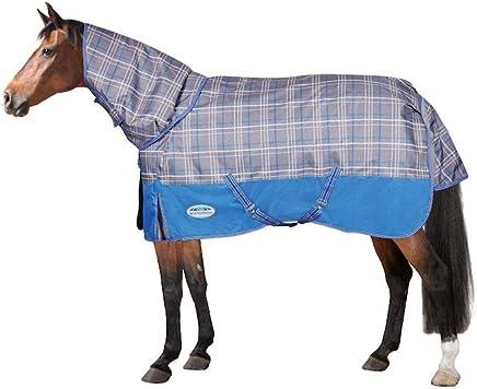 KOOL COAT Combo Neck LITE III White/Blue 7'0 Horse Rug