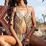 Sethain Boho Chaîne de corps Or Scintillant Acrylique Chaînes Haut Plage Bikini Les ceintures Accessoires de carrosserie Bijoux pour Femmes et Filles