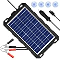 POWISER 10W Solar Battery Charger 12V Solar Powered Battery maintainer & Charger,Suitable for Automotive, Motorcycle, Boat, Marine, RV, Trailer, Powersports, Snowmobile, etc.(10W Poly)