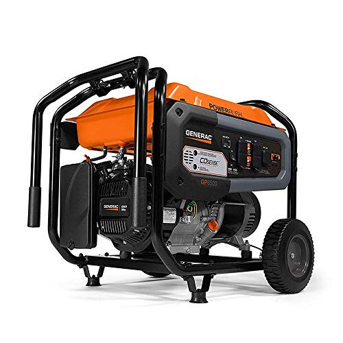Generac 7683 GP6500 Portable Generator, Orange, Black