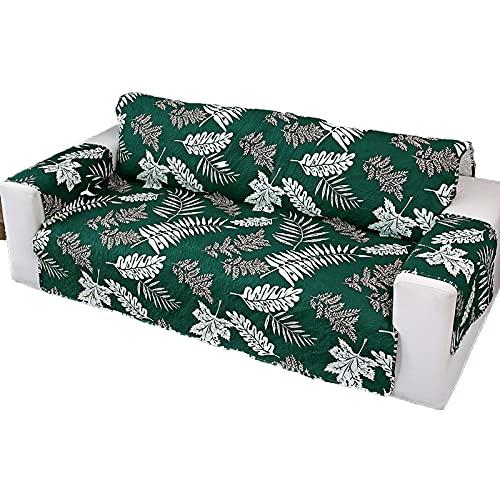 Fácil-Going Sofa Slipcover Funda De Sofá Funda De Sofá Protector De Muebles con Correas Elásticas para Mascotas Niños Niños Perro Gato -verde-1Asiento55X196cm