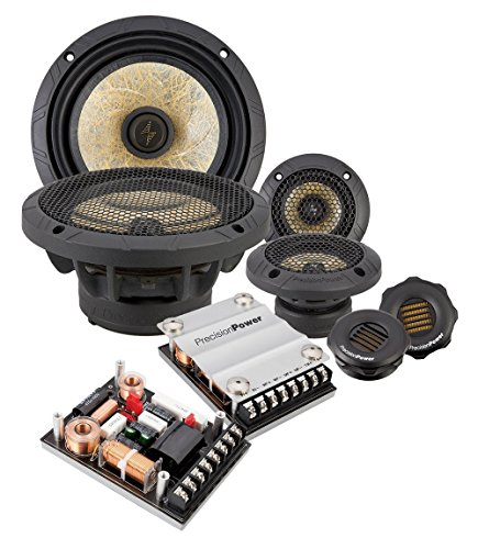 "Precision Power P.65C3 6.5"" 3-Way Power Class Series Component Car Audio Speaker System"