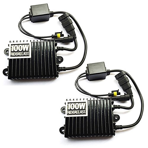 Boomboost Xénon HID Ballasts 100W 12V Kit de Conversion de Voiture Remplacement Slim Ballast Blocks pour Toutes Les Ampoules au xénon 2 PCS