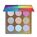 UCANBE KALEiDOSCOPE Highlighter Powder Makeup Palette, High Pigment Holographic Duo-chrome Shimmer Highlighting Bronzer Glow Easy to Apply Pallets Set