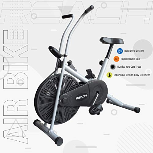 Reach Ab-90 Air Bike Exercise Fitness Cycle With Stationary Handles (Multi-color) (No-Cost EMI Available)