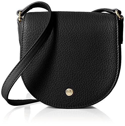 ECCO - Kauai Small Saddle Bag, Bolsos bandolera Mujer, Schwarz (Black), 7.5x15x16 cm (B x H T)