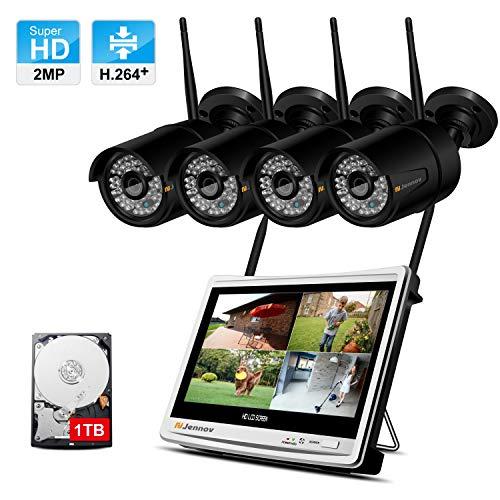 puissant Système CCTV WiFi avec écran LCD 12 pouces Kit caméra Jennov 1080P HD…