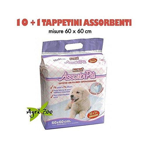 BEST FRIEND Tappetini Assorbenti / Traversine Per Cani 60 x 60 cm, Confezion e da 11