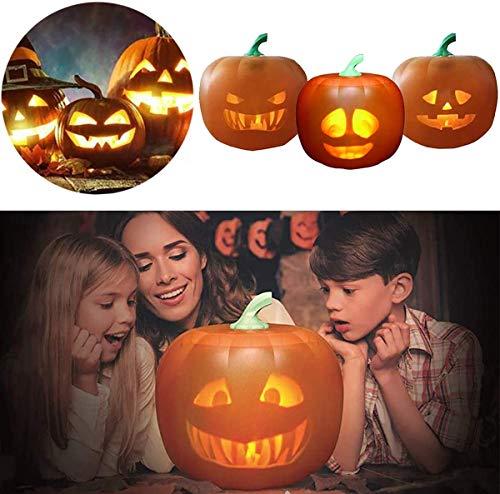 Talking Pumpkin with Built in Projector & Speaker for Home Party Kids, 3 in 1Emoticons Sprechender Kürbis mit eingebautem Projektor & Lautsprecher, singendes Blitzkürbislicht
