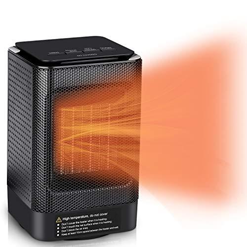 MroTech Calefactor, Estufa Calefactor Eléctrico Cerámico Rápido Calefacción de Cerámica Ventilador Calefactor de Espacio Portátil Aire Caliente,Oscilación Automática,Función Silence,Termostato,950W