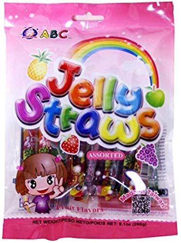 ABC - Cannucce assortite con gelatina di frutta, molti...