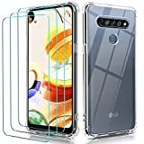 ivoler Case for LG K61 / LG Q61 + 3 Pack Tempered Glass