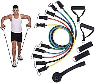 VicJoye 11 Pcs Latex Resistance Bands Set, Training Exercise Yoga Tubes Pull Rope, Expander Elastic Bands Fitness with Car...