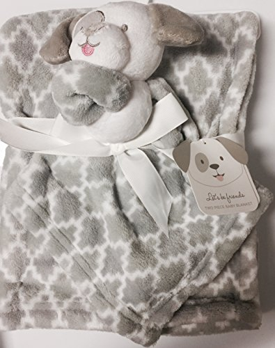 Two Piece Gray Baby Blanket
