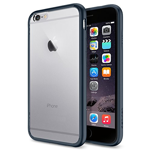 Spigen Schutzhülle iPhone 6 / 6S Hülle ULTRA HYBRID in schwarz [Black - COVER SGP10952]