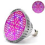 Luz de planta, 1 pieza, 30 W, 50 W, 80 W, E27, LED, eSpectro completo, lámpara de crecimiento de plantas, horticultura, bombilla para jardín [Clase de eficiencia energética A]