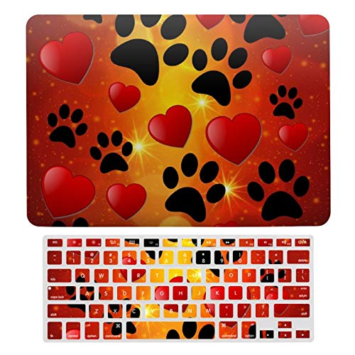 For MacBook Air 13 Case A1466、A1369, Plastic Hard Shell & Keyboard Cover Compatible with MacBook Air 13, I Love Nature Laptop Protective Shell Set