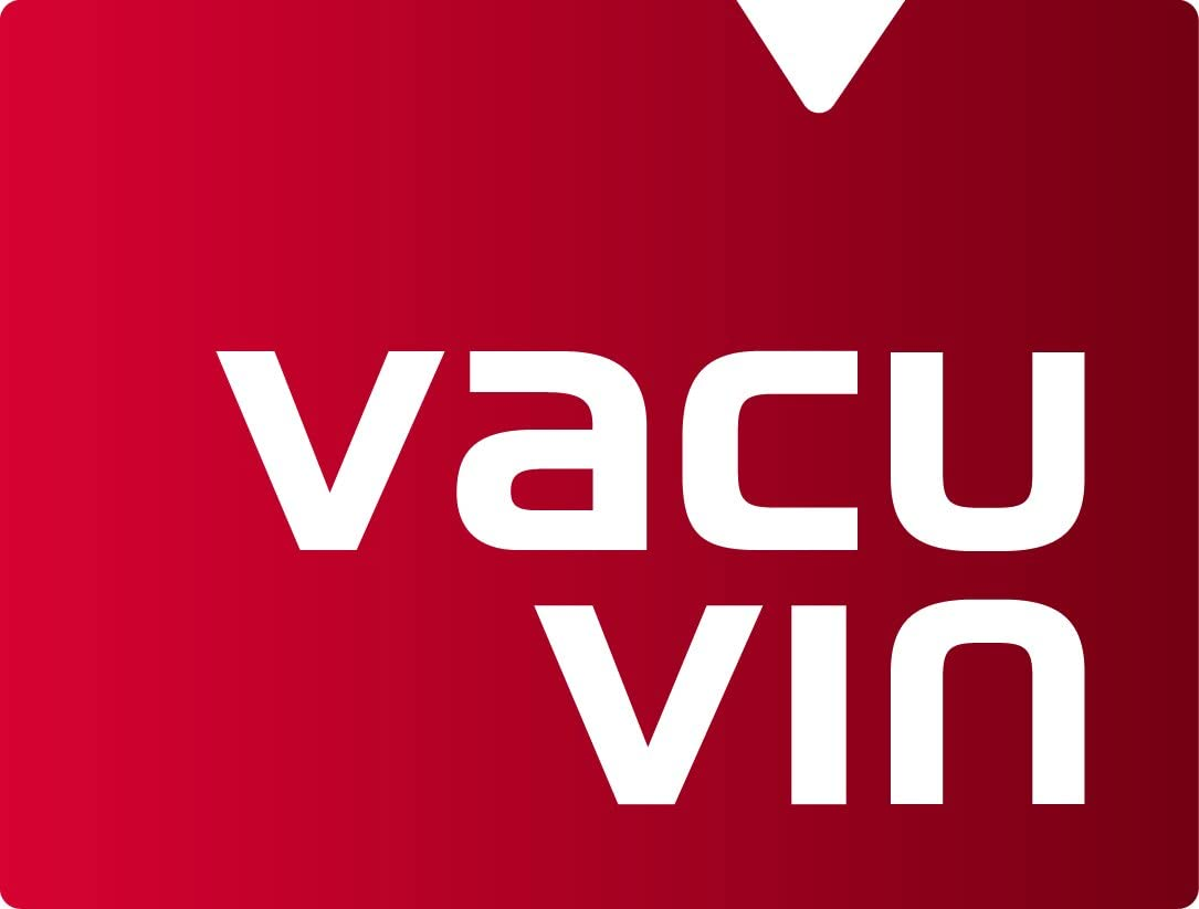 Vacu Vin 09874606 Weinpumpe Concerto mit 4 Stopfen /& 08850606 Ersatzstopfen farbig 3-er Set
